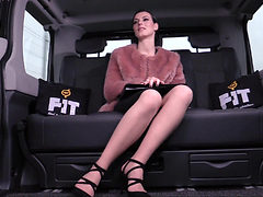Ukranian girl fucking on a backseat