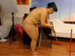 My chubby aunt doing naked the household