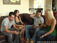 Swingers Night With The Hot Brunettes Penny Flame And R...