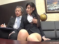 Seino just loves when her boss decides to penetrate her...