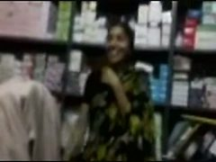 Indian girl working in my store sucks my cock in the st...