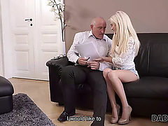 Daddy4k.fearsome aged businessman cums in blonde&am...