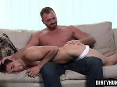 Muscle twink domination with facial