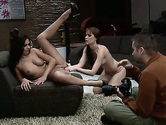 Dirty lesbains Sophie and Cipriana get each other the u...