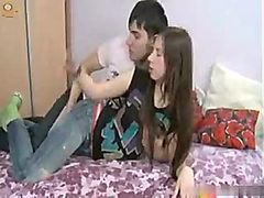 Colleen is a fresh teen enjoying her young man's hard cock