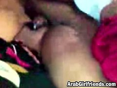 Amateur Arab girlfriend gets cunt filled with cock