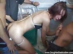 Teen daughter hate gangbanged