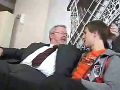 Young boy seduced by old daddy