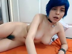 Extemely Hairy Pussy Huge Clit Amateur On Webcam