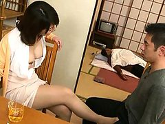 Yoko Imaeda's nipples are played with which makes her h...