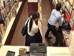 schoolgirl sluts banged in book store