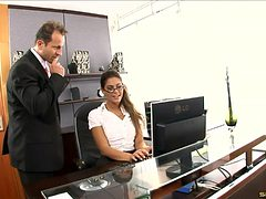Hottest secretary slut ever fucked by the horny boss