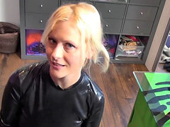 German Babe Gets Pov Sex In Latex Suit