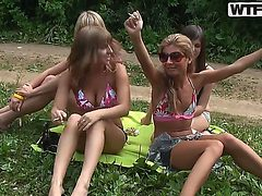 Amateur outdoor fuck with friends named Alika, Hannah, ...