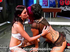 Wild orgy and girl on girl action