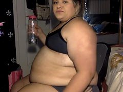 Chubby Water Bloat college girl