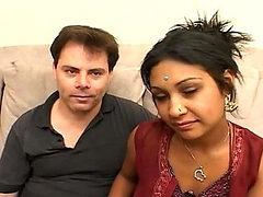 Sexy indian babe rides a hard cock