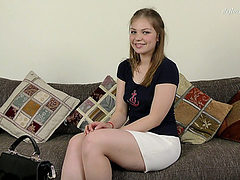 Appealing legal age teenager Galina Kabachok proves thi...