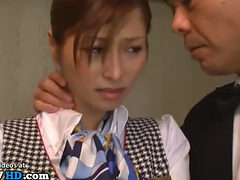 Japanese Maid Has To Fuck Two Clients In Luxury Hotel