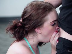 horny schoolgirl swallows a massive dick @ corrupt scho...