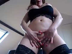 Argentinian MILF teases the webcam with her oiled volup...