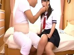 Japanese Innocent School Girl In Uniform Seduced By Old...