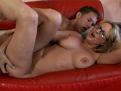 Blonde Milf Banging With A Younger Lover