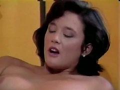 Hot brunette in nylon stockings from porn classic