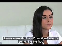 Fakeagent Petite Brunette Gets First Time Creampie In C...