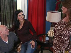 two mature women have fun with the boys