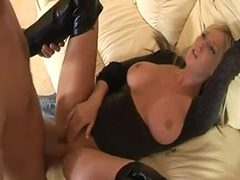 stunning british babe fucked in thigh boots