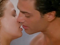 Brooke Burns making love with a guy in a shower, then w...