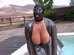 Latex Mask Slut - Space Place Blowjob Handjob - Cum in ...