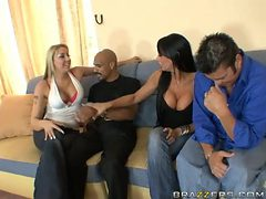 Interracial FFMM Foursome with Horny Sluts Delilah Stro...