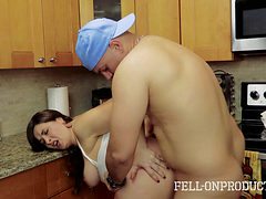 Madisin Lee Fucked In The Kitchen By Her Stepson